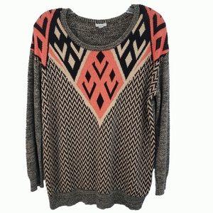 Ecote Vintage Aztec Sweater Women's Size M